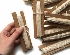 Warp for Tapestry Weaving | Cotton Weaving Supplies | 24 Yards of Weaving Loom Warp | Natural Warp Thread | Weaving Tools for the Beginner