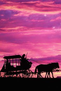 Beautiful scene Pink & Lavendar skies