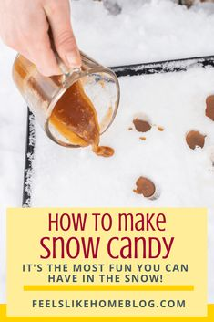 Snow Candy Recipe, Maple Syrup Candy Recipe, Snow Recipe, Maple Syrup Recipes, Caramel Candy, How To Make Snow, Butter Recipe, Candy Recipes, Quick Easy Meals