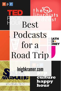 "Best Podcasts For a Road Trip (Leigh Kramer) Okay, okay, these aren't road trip songs, but they will keep you entertained! ""Best Podcasts For a Road Trip"" Ted Talks, Podcasts Best, Just Dream, Blog Voyage, Roadtrip, Road Trippin, Self Development, Personal Development, Viajes"