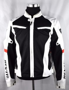 25de9e74161f5c GT-R Air Textile Motorcycle Jacket White Euro Fit XL w  Padding