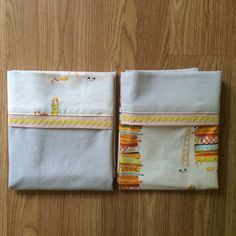 Set of 2 Standard Pillowcases - Princess & the Pea Mix n Match
