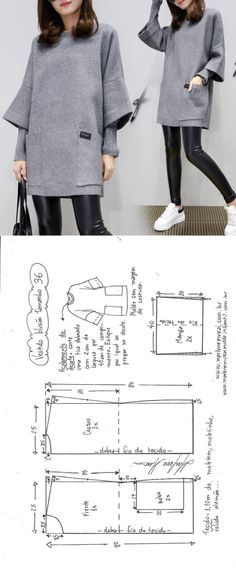 lässiges T-Shirt-Kleid nähen sew einfach clothes crafts for beginners ideas projects room Sewing Dress, Dress Sewing Patterns, Diy Dress, Sewing Patterns Free, Sewing Clothes, Clothing Patterns, Diy Clothes, Fashion Patterns, Style Clothes