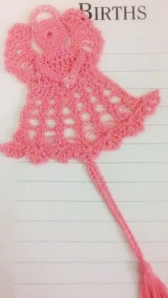 Sweet Pink Angel Hand Crocheted #Baptismals, #Christenings, #Birthdays