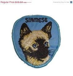 ON SALE Vintage Siamese Cat Patch by PopcornVintageByTann on Etsy