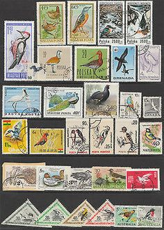 BIRDS on stamps, a selection