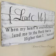 "Image of Barn wood sign ""Lead me"""