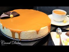 TARTA DE CREMA Y CARAMELO SIN HORNO - YouTube Food Cakes, Cheesecakes, Sin Gluten, Flan, Cake Pops, Tiramisu, Mousse, Cake Recipes, Cake Decorating
