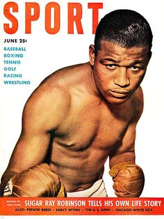 Boxing and Boxers: Sugar Ray Robinson Art Print by cosmiccats Sugar Ray Robinson, Sports Magazine Covers, Boxing Images, Boxing Posters, Boxing History, Super Images, Boxing Champions, Bench Press, Chicago White Sox