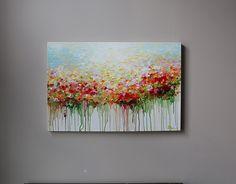 Peinture originale de fleurs peinture abstraite fleur par artbyoak1