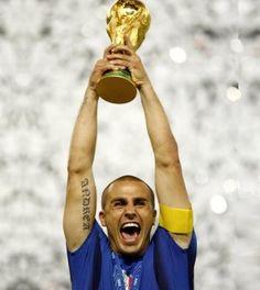 Fabio cannavaro. Italy win world cup. 2006