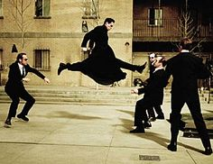 the matrix | ... the beginning of the burly brawl if the dojo fight in the matrix was a