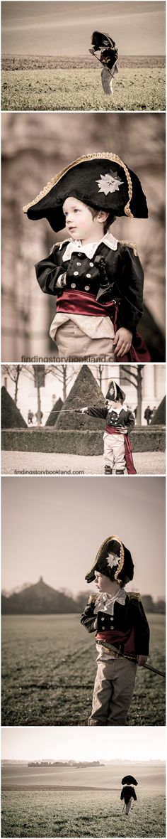 Napoleon: A simple DIY guide on how to do a Napoleon Bonaparte themed children's cosplay or LARP photo shoot with costume, prop and location ideas from findingstorybookland.com