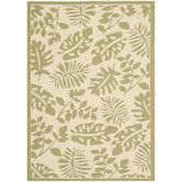 Found it at Wayfair - Martha Stewart Paradise Creme/Green Area Rug