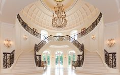 The foyer of Le Grand Reve...I need two grand staircases in my future mansion...talk about making a fabulous entrance