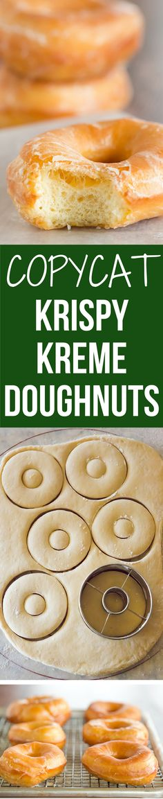 A copycat recipe for Krispy Kreme doughnuts - they're light, airy and covered in a barely-there glaze.