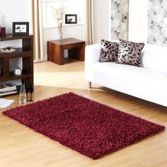 Veronica Extra Soft Fuchsia Rug By Ultimate Rug – Shaggy Rugs Living Room Living Room Modern, Rugs In Living Room, Living Room Color Schemes, Flat Ideas, Rug Sale, Red Rugs, Room Colors, Colours
