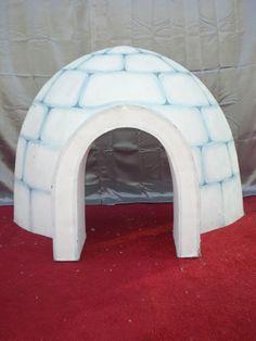 igloo prop cardboard   Igloo 4' high x 6' diameter 1 available
