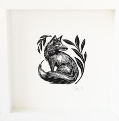 Fox, Linocut by Cally Conway | Artfinder