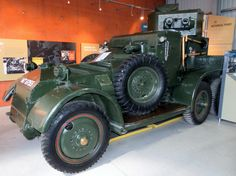Lanchester Mark II armored car. Built along similar lines to the successful Rolls-Royce armored car, they saw service all over the British Empire during 1930s and early period of WWII.