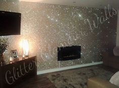 Modern Glitter Wallpaper roll Home decor Living Room Fabric Wallpapers silver Bling flash Wall paper papel de parede Glitter Wallpaper Bedroom, Glitter Bedroom, Glitter Paint For Walls, Sparkle Paint, Bling Bedroom, Gold Bedroom, Home Decor Bedroom, Living Room Decor, Warm Bedroom