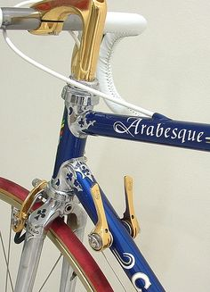 This Arabesque frame with the Fleur de Lyse cut lugs was one of the last of the limited series that were produced. There was a commercial arrangement with Rauler to build certain frames under contract to Colnago, namely the CX Aero, The Colnago RDV, the Saronni Colnago and the Arabesque. There was a beakdown in the relationship towards the end of the production run of Colnago frames, and it is my guess that this frame was constructed in Cambiago at the Colnago factory. Note the unusual…
