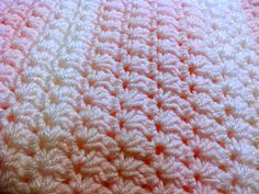 Ravelry: Easy Star Stitch Baby Blanket pattern by ag handmades...all of her patterns are free today...