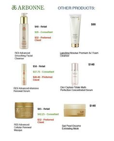 Better Arbonne products that will treat your skin better for cheaper.. Arbonne.com my ID: 441181694