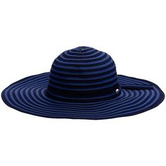 Seafolly Shady Lady Hat, Indigo ($37) ❤ liked on Polyvore featuring accessories, hats, cocktail hat, wide brim hat, seafolly, crown hat and beach hat