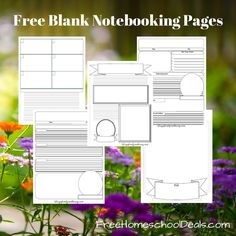 What Makes a Good Homeschool Notebooking Page (with free notebooking printables)