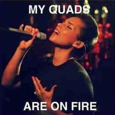 LOL Alicia Keys knows what leg days are all about ;) more funny memes at: http://www.bmicalculator.cc/memes
