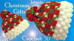 Good evening my dear knitters and crocheters from all around the world. Today, you are going to teach you how to crochet these adorable Christmas beanie hats you seen … Crochet Beanie Pattern, Crochet Cap, Easy Crochet, Crochet Stitches, Free Crochet, Crochet Edgings, Christmas Beanie, Crochet Christmas Hats, Baby Outfits