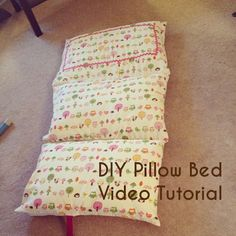 DIY Pillow Bed Tutorial - with video explanation!