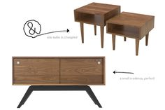 Eastvold Small Elka Credenza & Classic Side Table