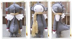 Dragon Stuffed Animal Plush with Scarf and Wings & by superflyhel
