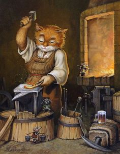 How to feed kittens if the cat can not feed them. What to do if kittens require lure or artificial feeding. Art And Illustration, Pet Portraits, Portrait Art, Animation, Gatos Cats, Beautiful Gif, Graphics Fairy, Cat Life, Cat Art