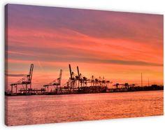 Koop 'Rotterdamse haven' van Thijs Schouten op canvas, dibond of (ingelijste) poster print.