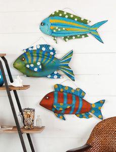 Fun Fish Metal Wall Art Set