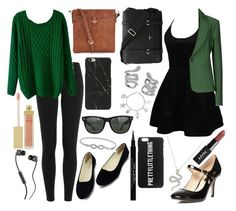 """""""Slytherin Fran & Kear"""" by frances-loves-to-sing ❤ liked on Polyvore featuring Ray-Ban, AERIN, Belk Silverworks, Polo Ralph Lauren, WithChic, Annarita N., Accessorize, Serapian, Dorothy Perkins and Givenchy"""