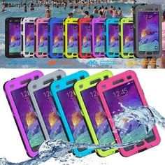 Waterproof Full Buttons Access Dirt Proof Case Cover for Samsung Galaxy Note 4