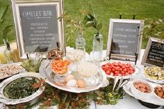 Wedding Food Stations Ideas Slides | New Food Stations Sure to Please! | OCCASIONS  I like the idea of picture frames for food description