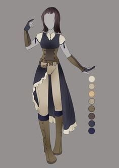 :: July Commission 03: Outfit Design :: by VioletKy.deviantart.com on @DeviantArt