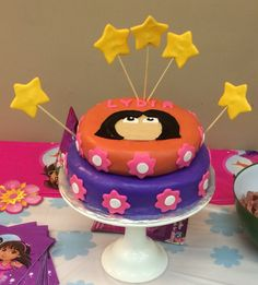 Dora cake for my birthday girl.