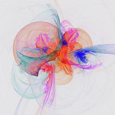 Mariia Kalinichenko Poster featuring the digital art Colored Jellyfish by Mariia Kalinichenko #MariiaKalinichenko