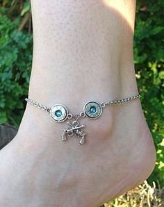 Bullet jewelry. Anklet with bullet casings by CaliberGirlJewelry, $16.99 by imelda