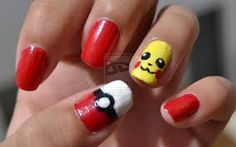 Image result for pikachu nails