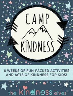 Creating a preschool summer camp in your school or home is easy when you use Camp Kindness. 6 weeks of fun activities for kids 3-8 that are meaningful and fun! #summer #summercamp #summerbreak #preschool #AGE3 #AGE4 #AGE5 #AGE6 #teaching2and3yearolds Camping Activites For Kids, Day Camp Activities, Preschool Summer Camp, Summer Camp Themes, School Age Activities, Summer Day Camp, Kindness Activities, Summer Camps For Kids, Camping Games