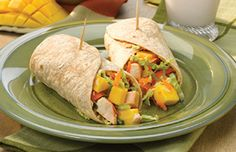 Asian Mango Chicken Wraps - What's Cooking? USDA Mixing Bowl #MyPlate