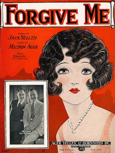 """Forgive Me"" sheet music. Cover art by Alfred Barbelle."