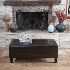 Christopher Knight Home Cheshire Leather Bench Ottoman